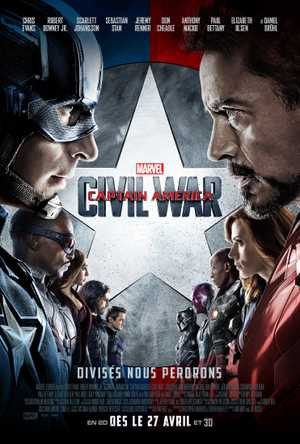 Captain America : Civil war - Action, Science-Fiction, Aventure
