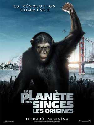 La Planète des Singes : Les Origines - Action, Science-Fiction, Drame