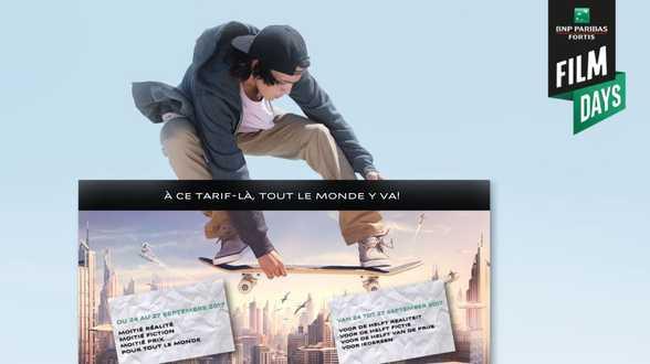 10ème édition des BNP Paribas Fortis FILM DAYS - Actu