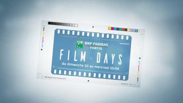 Les BNP Paribas Fortis Films Days sont de retour - Actu