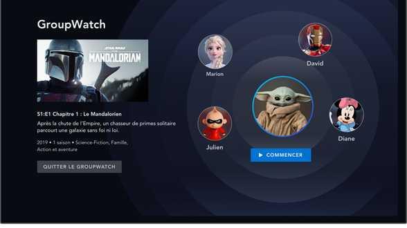 Disney+ a lancé Groupwatch, sa nouvelle fonctionnalité de de co-visionnage - Actu