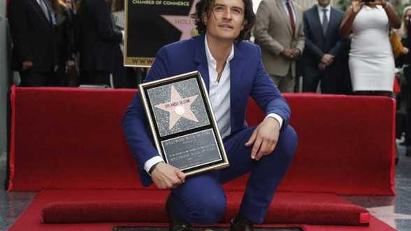 Orlando Bloom reçoit sont étoile sur Hollywood Boulevard - Actu