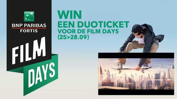 BNP Paribas Fortis Film days komen terug ! - Actueel