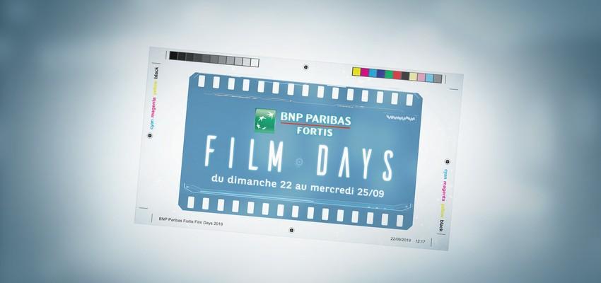 Les BNP Paribas Fortis Films Days sont de retour