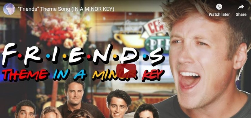 YouTuber scoort met trieste versie van 'Friends'-intro